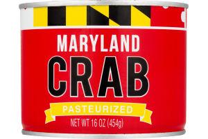 Maryland Crab Pasteurized Blue Crab Jumbo Lump