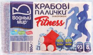 Крабовые палочки замороженные Fitness Водный Мир в/у 180г