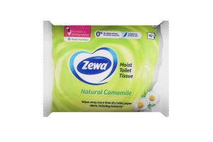 Папір туалетний вологий Натуральна ромашка Zewa 42шт