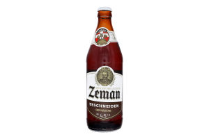 Пиво 0.5л 4.5% напівтемне фільтроване пастеризоване Beschneiden Zeman пл