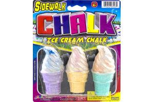 Ja-Ru Sidewalk Chalk Ice Cream Chalk - 3 CT