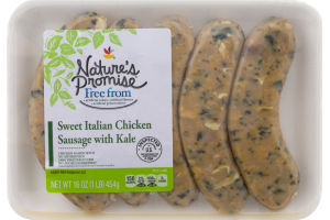 Nature's Promise Sweet Italian Chicken Sausage with Kale - 5 CT