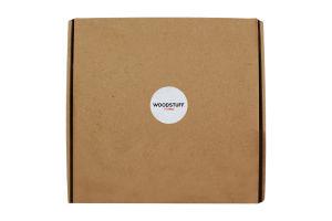 Комплект Дошка сирна+соусник+ложка Woodstuff 1шт