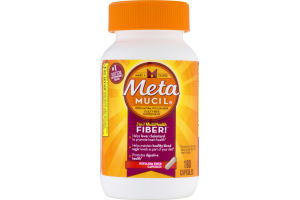 Metamucil Daily Fiber Supplement Psyllium Fiber Capsules - 160 CT
