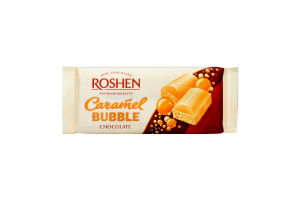 Шоколад Roshen пористий білий Карамельний 85г х40