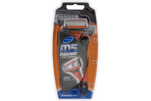 CareOne M5 Magnum 5 Blade Disposable Razors with Trimmer Blade - 3 CT