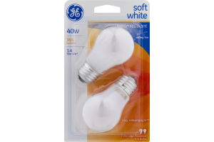 GE Soft White 40W Bulbs - 2 CT