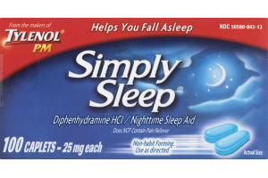 Tylenol PM Simply Sleep Nighttime Sleep Aid Caplets - 100 CT