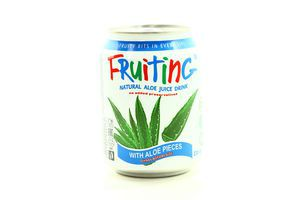 Напиток сокосодержащий из сока алоэ c кусочками алоэ Fruiting ж/б 238мл