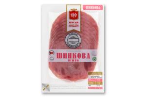 Ковбаса варена Шинкова ніжна М'ясна Гільдія в/у 0.1кг