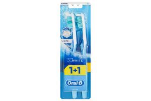 Зубная щетка средней жесткости 3D White Oral-B 2шт
