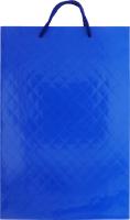Пакет паперовий ламінований блакитний 360х240х90 №177252 Середній вертикальний Южпромгруп 1шт