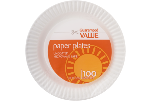 Guaranteed Value Paper Plates - 100 CT