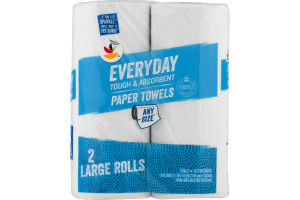 Ahold Everyday Paper Towels Any Size - 2 CT