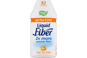 Nature's Way Liquid Fiber Sugar Free Orange