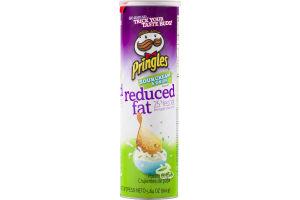 Pringles Reduced Fat Potato Chips Sour Cream & Onion Flavored