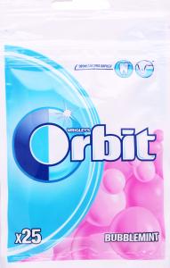 Гумка жувальна без цукру з фруктовим і м'ятним ароматом Bubblemint Orbit м/у 35г