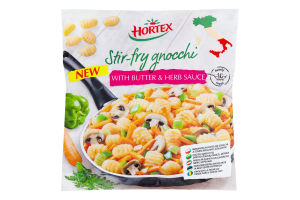 Суміш овочева заморожена з картопляними ньокі, грибами і соусом м/у Hortex 450г