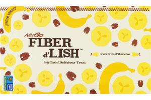 NuGo Fiber d'Lish Soft Baked Delicious Treat Banana Walnut Bars - 16 CT