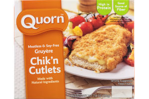 Quorn Chik'n Cutlets Gruyere Meatless & Soy-Free - 2 CT