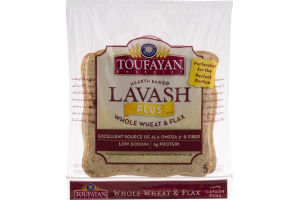 Toufayan Bakeries Lavash Plus Whole Wheat & Flax - 5 CT