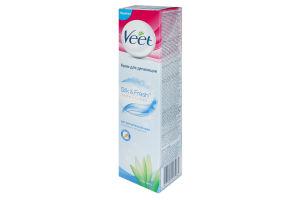 Крем для депиляции чувствительной кожи Silk&Fresh Veet 200мл
