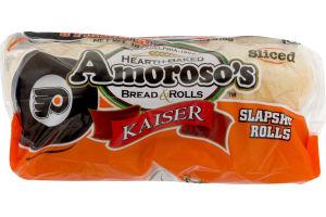 Amoroso's Philadelphia Flyers Kaiser Slapshot Rolls Sliced - 8 CT