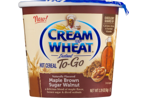 Cream Of Wheat To-Go Instant Hot Cereal Maple Brown Sugar Walnut