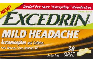 Excedrin Mild Headache Acetaminophen And Caffeine Caplets - 30 CT