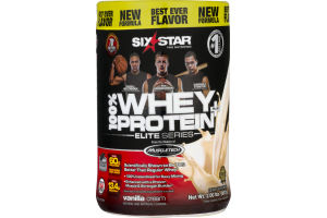 Six Star Pro Nutrition 100% Whey Protein Elite Series Vanilla Cream