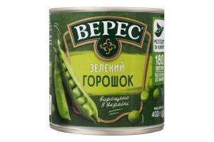 Горошек зеленый консервированный Верес ж/б 400г