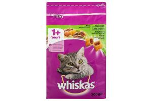 Корм для взрослых котов c ягненком Whiskas м/у 300г