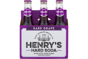 Henry's Hard Soda Hard Grape - 6 PK