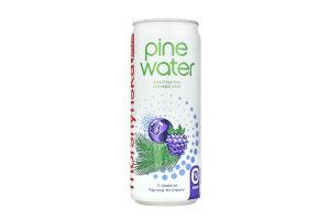 Напій безалкогольний слабогазований Чорниця-Ожина Pine Water Morshynska Plus з/б 0.33л