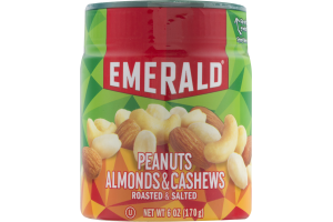 Emerald Peanuts Almonds & Cashews Roasted & Salted