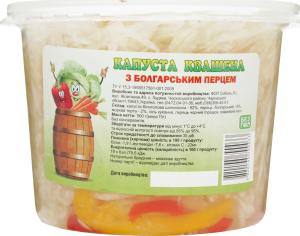 Капуста квашеная с болгарс перцем ведро п/э Соболь