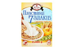 Хлопья 7 злаков с семенами тыквы Козуб продукт к/у 4х200г