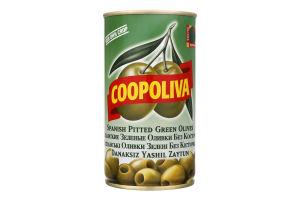 Оливки зелені без кісточки Coopoliva з/б 350г