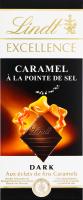 Шоколад темний з карамеллю та сіллю Excellence Lindt к/у 100г