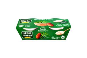 Десерт рослинний органічний з мигдалю з сиропом агави NaturGreen к/у 2х125г