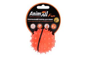Снаряд тренувальний для собак 7см помаранчевий Каштан м'яч Fun AnimAll 1шт