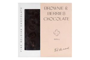 Шоколад з журавлиною та шоколадним печивом Brownie&berries Spell к/у 85г