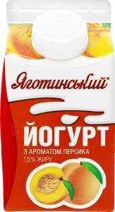 Йогурт 1.5% Персик Яготинський п/п 450г