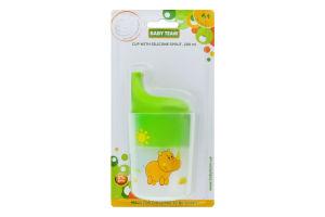 Стакан-поильник для детей от 6мес с силиконовой насадкой 200мл №5008 Baby Team 1шт