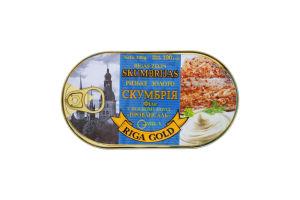 Скумбрія філе в ніжному соусі Провансаль Рижское золото з/б 190г