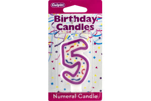 Culpitt Birthday Candles Numeral Candle 5