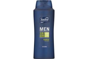Suave Professionals Men 3-In-1 Citrus Rush Shampoo + Conditioner + Body Wash