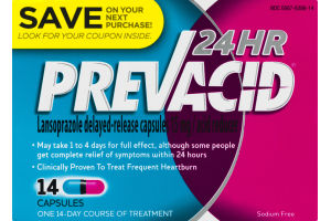 Prevacid 24 HR Acid Reducer Capsules - 14 CT