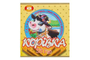 Печиво зі смаком пряженого молока Корівка Бісквіт Шоколад м/у 55г