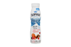 Йогурт ПЕТ 2,2% 300г Курага - Горіхи - Журавлина Галичина